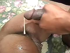 Horny ebony throats dick in nature