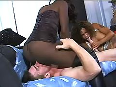 Busty African shortie gets slammed